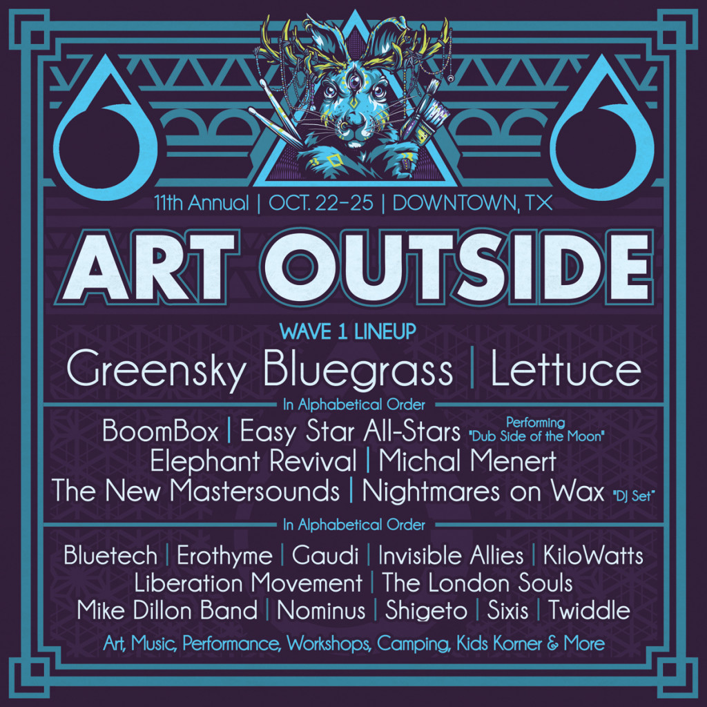Art Outside 2015 Wave 1 Lineup